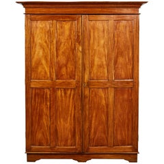19th Century Two-Door Simple Satinwood Cabinet