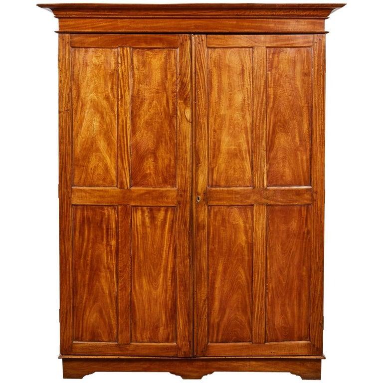 19th Century Two-Door Simple Satinwood Cabinet