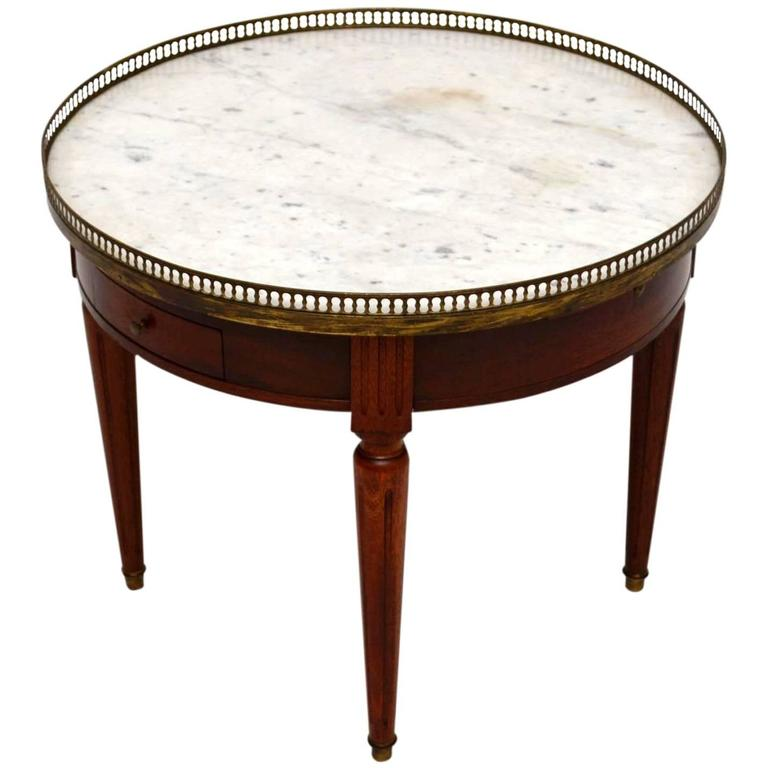 Antique French Marble Top Coffee Table: Antique French Marble-Top Coffee Table At 1stdibs
