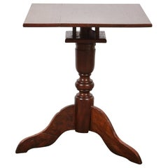 Mid-19th Century Tindalo Wood Square Top Pedestal Table