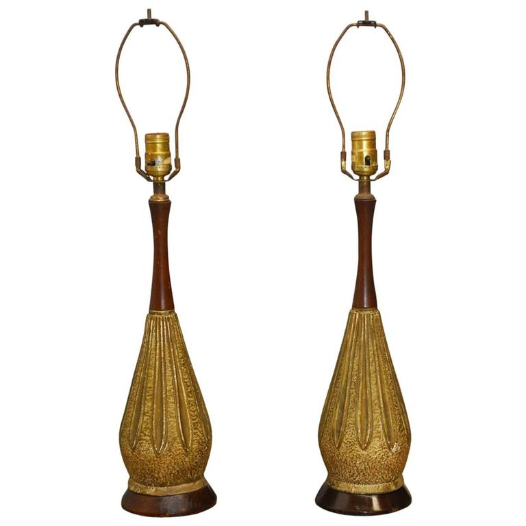 Pair of Mid-Century Torini Ceramic Table Lamps