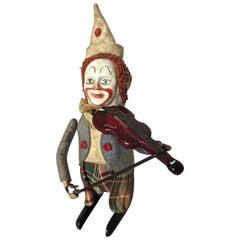 Schuco Clockwork Clown Violinist, German, circa 1940