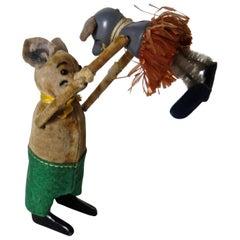 "Schuco Clockwork ""Dancing Bear with Baby Mouse"", German, circa 1940"