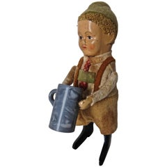 Schuco Clockwork Dancing Boy with a Beer Mug, German, circa 1940
