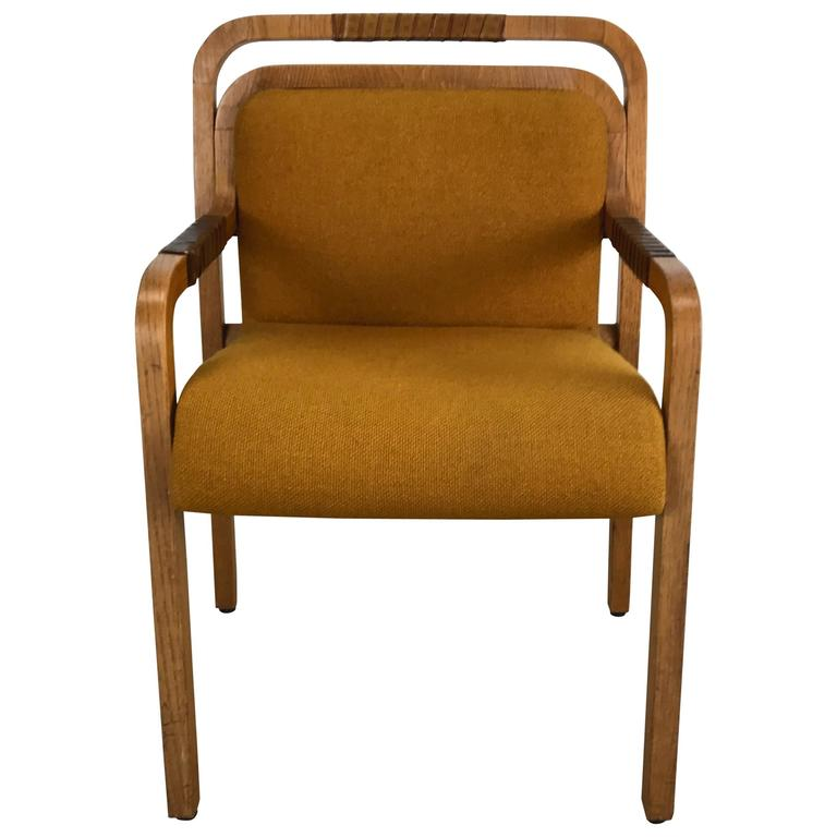 Unusual Furniture For Sale: Unusual Modernist Arm Or Desk Chair Made By Gunlocke For