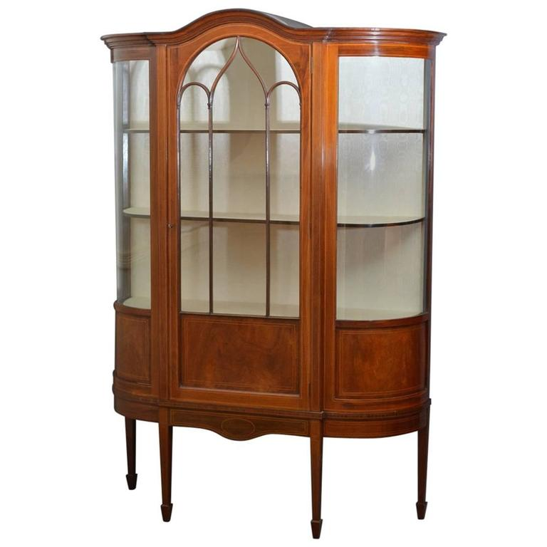 Stunning Edwardian Display Cabinet, Vitrine