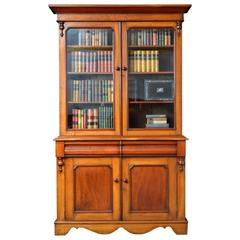 Victorian Oak and Mahogany Country Bookcase