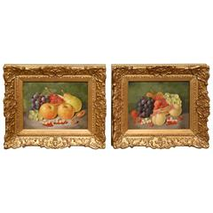 """Summer Fruits"" a Pair by George Crisp"