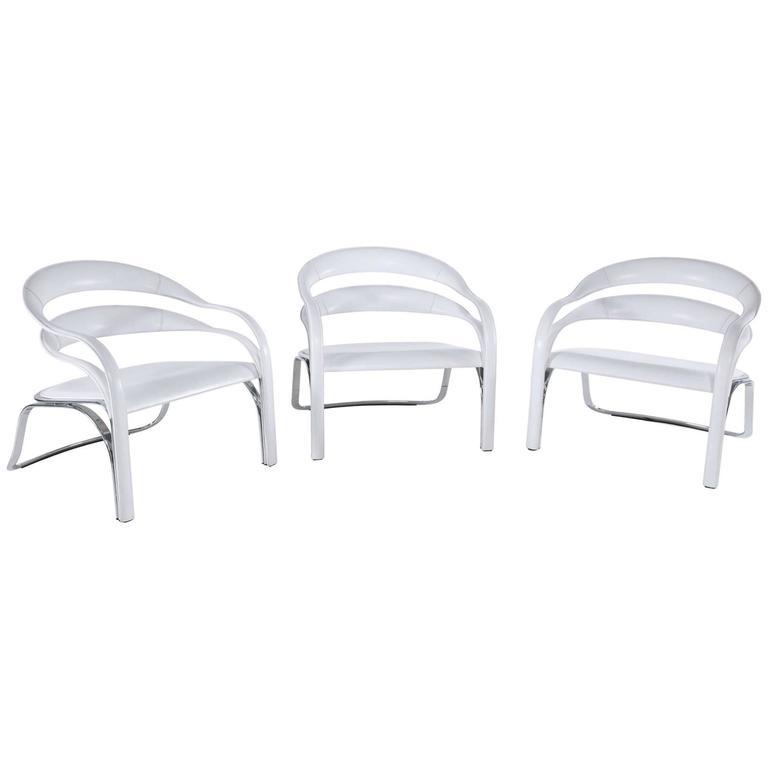 Vladimir Kagan, Fettuccini W Chairs, Fasem International, Italy