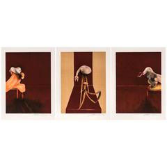 Francis Bacon, Second Version of Triptych 1944, Signed Lithograph