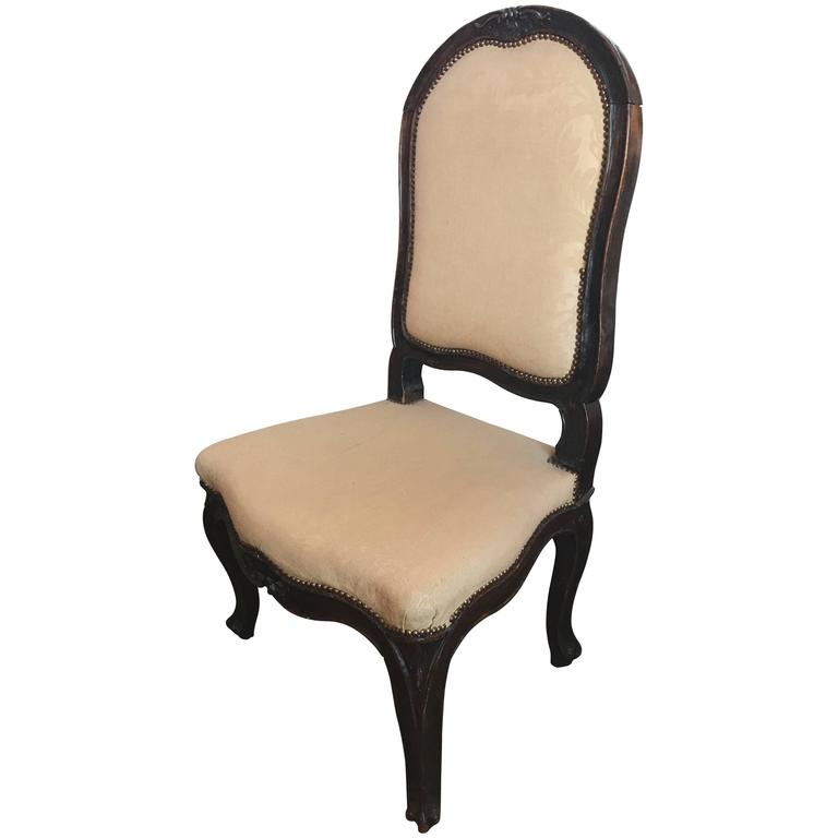 18th Century Italian Walnut Side Chair