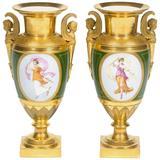 19th Century Pair of Paris Porcelain Vases