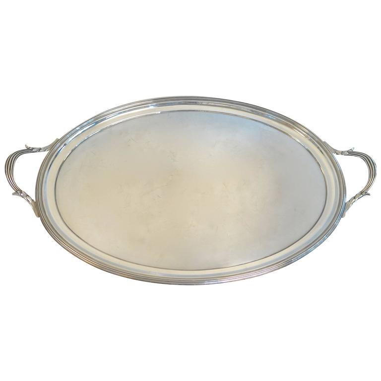 English Sterling Silver Tray