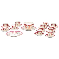 19th Century Coalport Raspberry and Gilt Tea Service