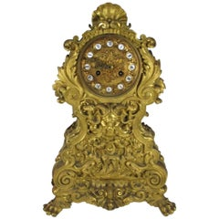 Claude Hemon, Paris 19th Century Bronze Gilt Clock
