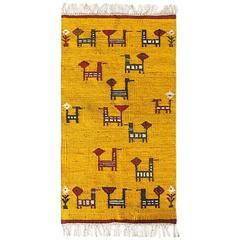 Mid-Century Handwoven Carpet