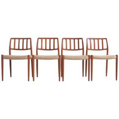 Set of Four Model 83 Niels Otto Moller Chairs