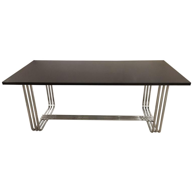 Hollywood Regency Style Ralph Lauren Ebonized Dining Table or Desk