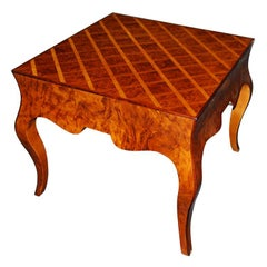 Italian Parquetry Top Occasional Table