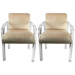 Vintage Pair of Lucite Child Chairs, 1970s