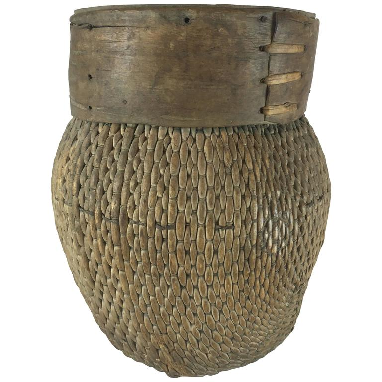 African Baskets With Lids: Antique African Basket At 1stdibs