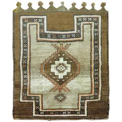 Brown Turkish Kars Square Scatter Size Rug