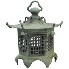 Japan Antique Bronze Lantern, Good Choice for Your Roof Top or Tea Garden