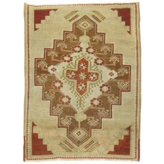Camel Vintage Turkish Oushak Rug
