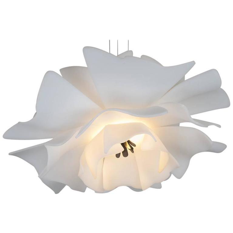 Love Me Not Hand-Formed Floral LED Modern Pendant Light