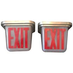 Mid-Century Double Sided Ceiling Flush Mount Exit Sign Lights