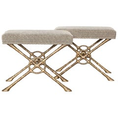 """""""Xanto,"""" Bronze Benches by Alexandre Logé"""