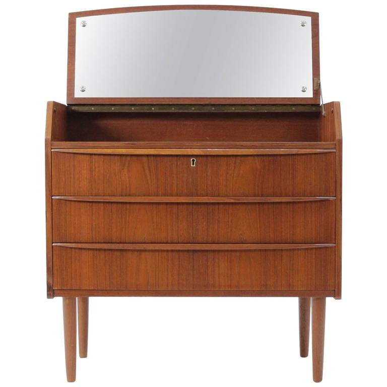 Danish Teak Dresser with Mirror, 1960s