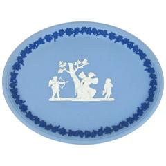 Wedgwood Psyche and Cupid Oval Tray in Tri-Color Jasper