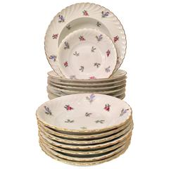 "German Porcelain Dinnerware ""Dresden Flowers"" Set of 16 Pieces"