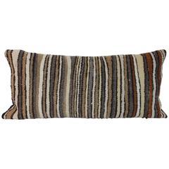 Striped Navajo Saddle Blanket Weaving Bolster Pillow