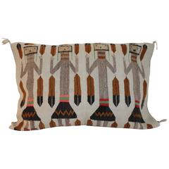 Early and Rare Monumental Yea Navajo Weaving Pillow