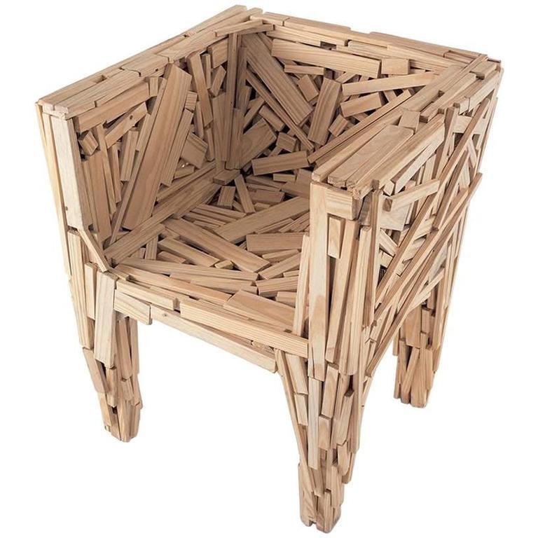 EDRA Favela Armchair in Solid Pine or Teak
