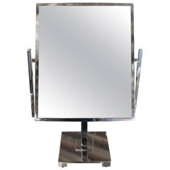 Vintage Double Sided Table Mirror in the Style of Charles Hollis Jones