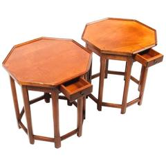 French Cherry Octagonal Side Table