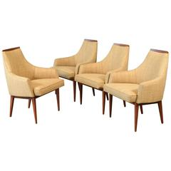 Set of Four Dining Chairs by Kipp Stewart for Calvin