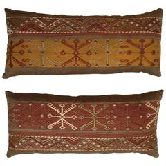 Pair of Vintage Flat-Weave Kilim Pillows