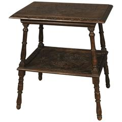 20th Century French Coffee Table in Oak in Renaissance Style