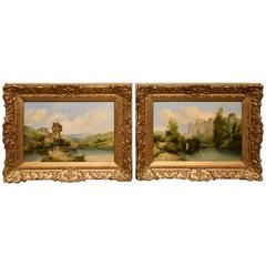 """Continental River Views"" Pair by Alfred Henry Vickers"