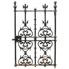 19th Century Cast Iron Pedestrian Gate