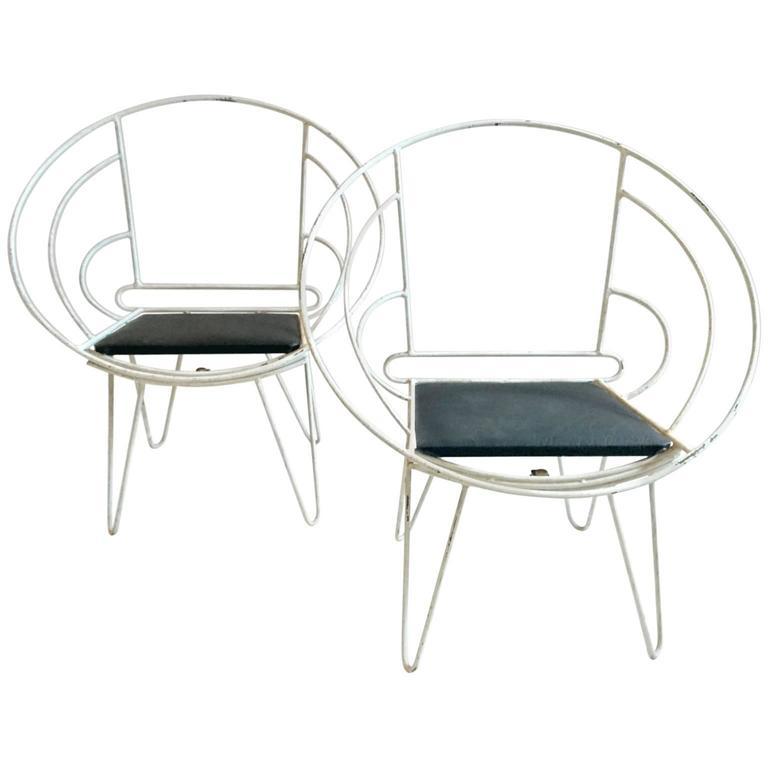 art deco iron deck chairs in white sweden at 1stdibs