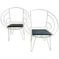 Pair of Deck Chairs in Bauhaus Design