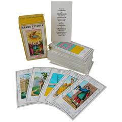 Vintage French Tarot Card Fortune Teller's Deck, the Grand Etteilla, B.P.Grimaud