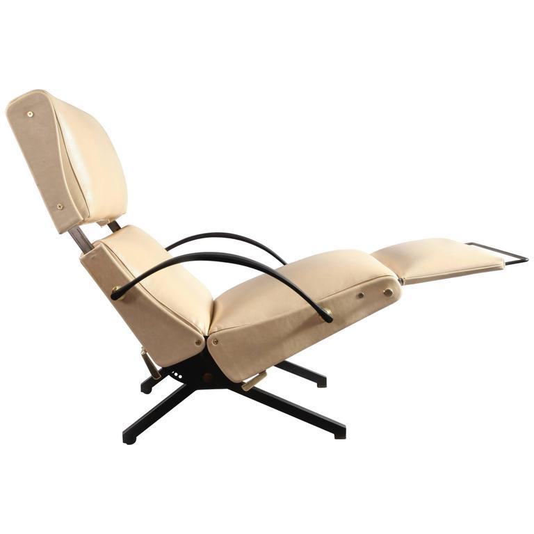 1950 Osvaldo Borsani P40 Relaxing System Leather Armchair 1