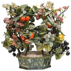 Over the Top Jade and Hardstone Flower or Fruit Basket