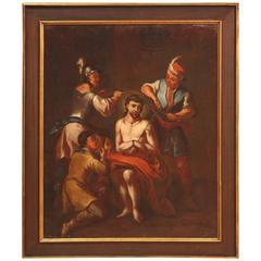 "18th Century Italian Religious Painting ""Coronation of Christ"""